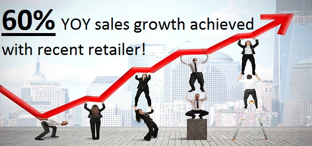 60% YOY sales growth